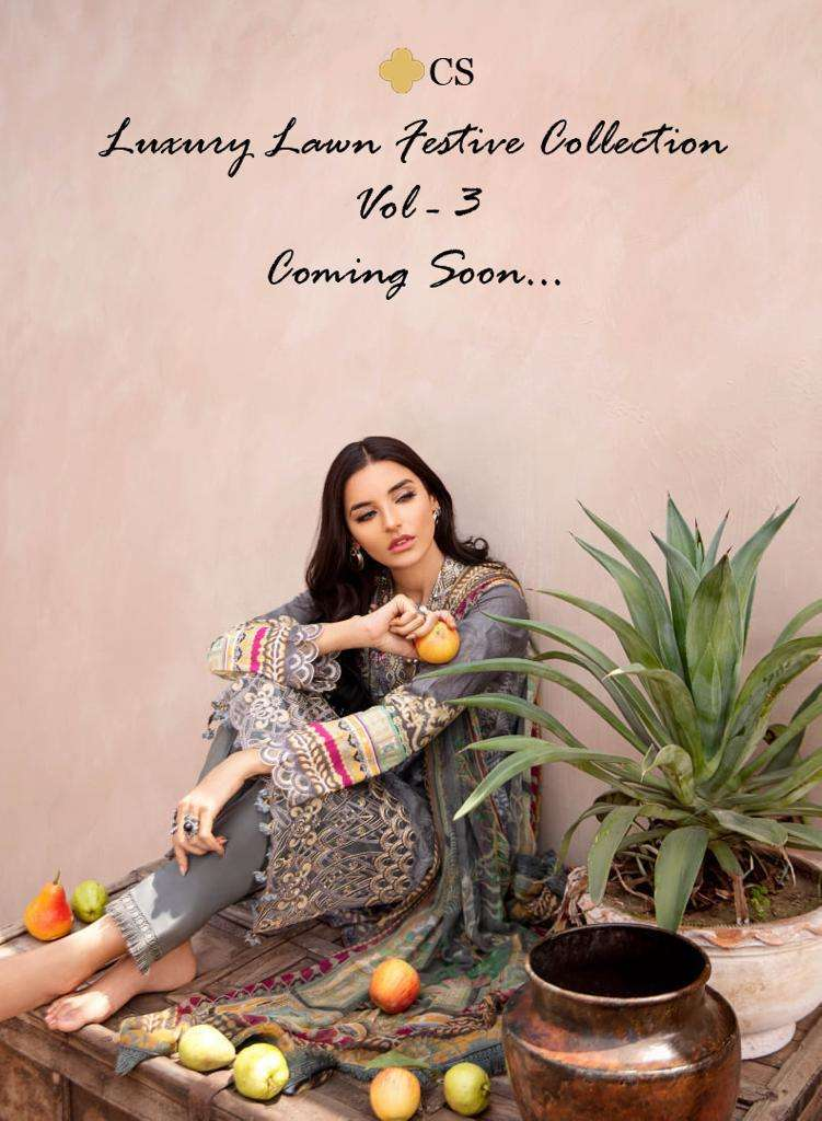 LUXURY LAWN FESTIVE COLLECTION VOL 3